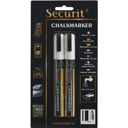 Krijtstift Securit SMA-510 schuin wit 2-6mm blister à 2st