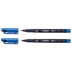 Viltstift STABILO OHpen permanent 843/41 rond 1mm blauw