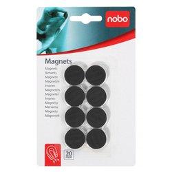 Magneet Nobo 20mm 120gr zwart