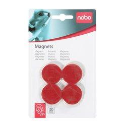 Magneet Nobo 30mm 700gr rood