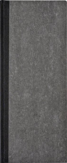 Winkelboek smalfolio 192blz gelinieerd grijs gewolkt