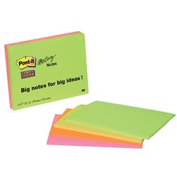 Memoblok 3M Post-it 6445 Super Sticky 149x98.4mm assorti