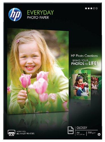 Inkjetpapier HP Q2510A A4 mat glans 200gr 100vel