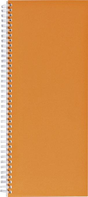 Winkelboek smalfolio 160blz spiraal oranje