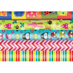 Inpakpapier Haza kids colours 200x70cm assorti