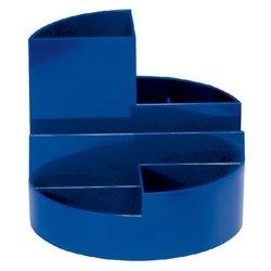 Pennenkoker MAUL roundbox 6 vakken blauw