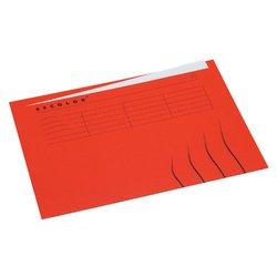 Vouwmap Secolor A4 ongelijk 225gr rood