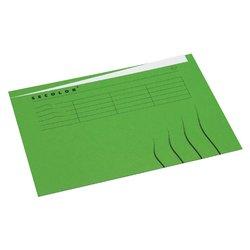Vouwmap Secolor A4 ongelijk 225gr groen