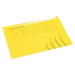 Vouwmap Secolor A4 ongelijk 225gr geel
