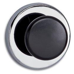 Magneet met knop MAUL 65mm trekkracht 12kg chroom/zwart