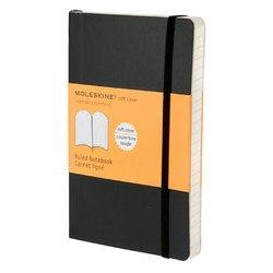 Notitieboek Moleskine pocket 90x140mm lijn zwart