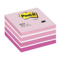 Memoblok 3M Post-it 2028 76x76mm kubus pastel roze