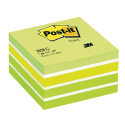 Memoblok 3M Post-it 2028 76x76mm kubus pastel groen