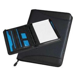 Schrijfmap Rillstab Maastricht A4 O-mech 25mm lederlook zwart
