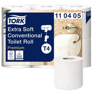 Toiletpapier Tork T4 110405 Premium 4laags 153vel 42rollen wit