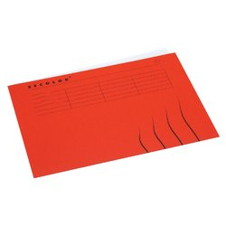 Vouwmap Secolor A4 gelijk 225gr rood