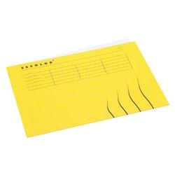 Vouwmap Secolor A4 gelijk 225gr geel