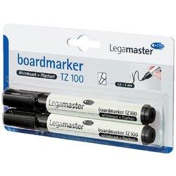 Viltstift Legamaster TZ100 whiteboard rond zwart 1.5-3mm 2st