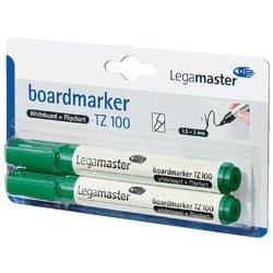 Viltstift Legamaster TZ100 whiteboard rond groen 1.5-3mm 2st