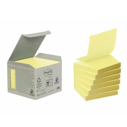 Memoblok 3M Post-it Z-Note R330 76x76mm recycled geel