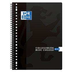 Collegeblok Oxford A4+ 23-gaats lijn 160blz zwart