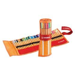 Fineliner STABILO point 88 rollerset oranje/rood à 30 kleuren