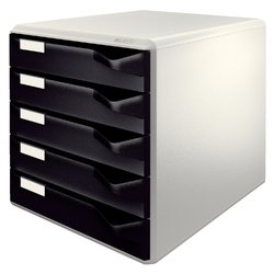 Ladenblok Leitz 5280 5 laden zwart