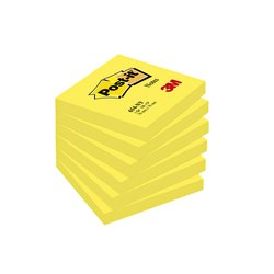 Memoblok 3M Post-it 654 76x76mm neon geel