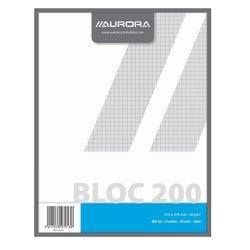 Kladblok Aurora 210x270mm ruit 5x5mm 200vel