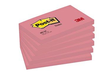Memoblok 3M Post-it 655 76x127mm neon roze