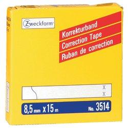 Correctietape Zweckform 3514 8.5mmx15m 2regels