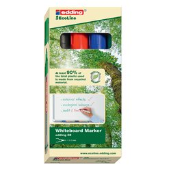 Viltstift edding 28 whiteboard Eco rond assorti 1.5-3mm 4st