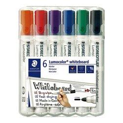 Viltstift Staedtler Lumocolor 351 whiteboard set à 6 stuks assorti