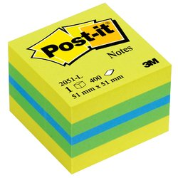 Memoblok 3M Post-it 2051 51x51mm kubus lemon