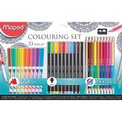 Viltstift Maped colouring set 33delig assorti