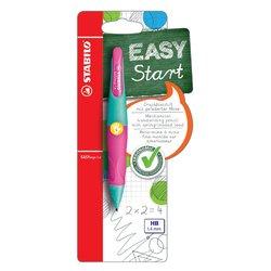 Vulpotlood STABILO Easyergo 1.4mm linkshandig turquoise/neon roze blister