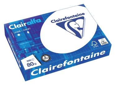 Kopieerpapier Clairefontaine Clairalfa A4 80gr wit 500vel