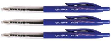 Balpen Quantore drukknop blauw medium