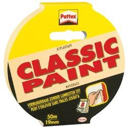 Afplaktape Pattex Classic 19mmx50m creme