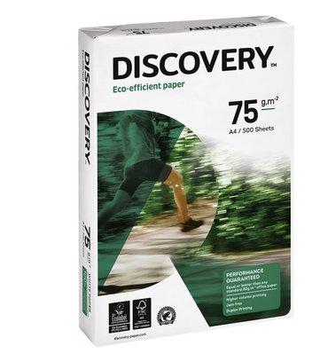 Kopieerpapier Discovery A4 75gr wit 500vel