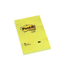 Memoblok 3M Post-it 662 102x152mm ruit geel