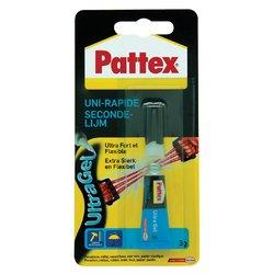Secondelijm Pattex ultra gel tube 3gram op blister