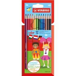 Kleurpotloden STABILO Color 979 kartonnen etui à 12 kleuren
