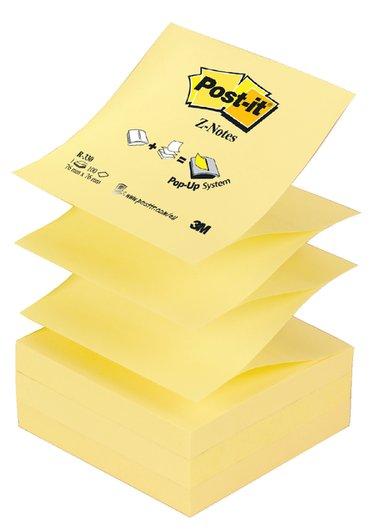 Memoblok 3M Post-it Z-Note R330 76x76mm geel