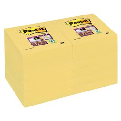 Memoblok 3M Post-it 622 Super Sticky 47.6x47.6mm geel
