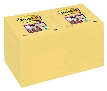 Memoblok 3M Post-it 622 Super Sticky 47.6x47.6mm geel