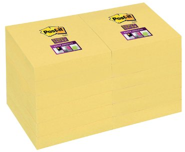 Memoblok 3M Post-it 656 Super Sticky 47.6x76mm geel