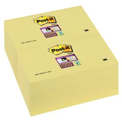 Memoblok 3M Post-it 655 Super Sticky 76x127mm geel