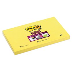 Memoblok 3M Post-it 655 Super Sticky 76x127mm ultra geel