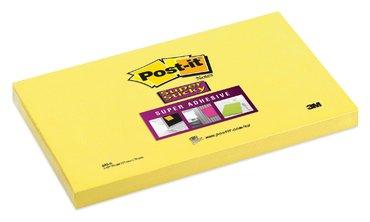 Memoblok 3M Post-it 655 Super Sticky 76x127mm ultra geel